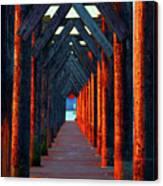 Pier Symmetry   Canvas Print