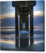 Pier View At Dawn Canvas Print