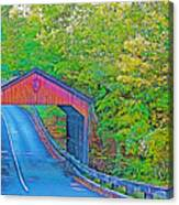 Pierce Stocking Covered Bridge In Sleeping Bear Dunes National Lakeshore-michigan Canvas Print
