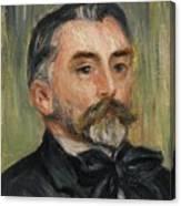 Pierre-auguste Renoir 1841-1919 Portrait Stephane Mallarme Canvas Print