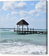 Piers By The Ocean Canvas Print