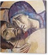 Pieta-mural Detail Canvas Print