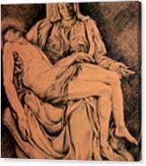 Pieta Study Canvas Print