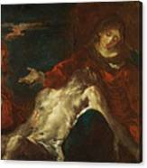 Pieta With Mary Magdalene Canvas Print