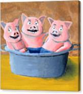 Pigs In A Tub Canvas Print