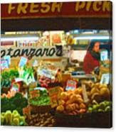 Pike Place Market Produce Canvas Print