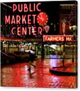 Pike Place Reflections Canvas Print