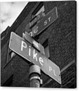 Pike Place Seattle Canvas Print