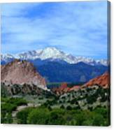 Pikes Peak And Garden Of The Gods 1 Canvas Print