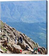 Pikes Peak Marathon And Ascent Canvas Print