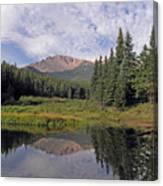 Pikes Peak Reflection Canvas Print