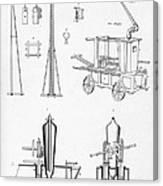 Pile Driver, Fire Engine, Steam Engine Canvas Print