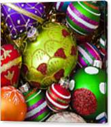 Pile Of Beautiful Ornaments Canvas Print