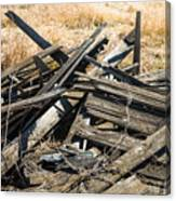Pile Of Old Wood Canvas Print