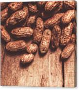 Pile Of Peanuts Covering Top Half Of Board Canvas Print