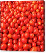 Pile Of Small Tomatos For Sale In Market Canvas Print