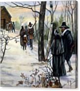 Pilgrims: Church Canvas Print
