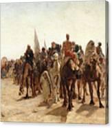 Pilgrims Going To Mecca Canvas Print