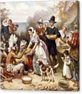 Pilgrims: Thanksgiving, 1621 Canvas Print