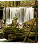 Pillar And Waterfall Canvas Print