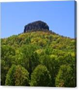 Pilot Mountain In Spring Green Canvas Print