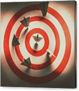 Pin Point Your Target Audience Canvas Print