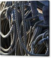 Pin Rail And Rope Canvas Print