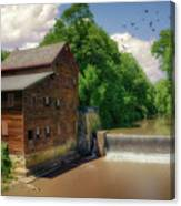 Pine Creek Gristmill Canvas Print
