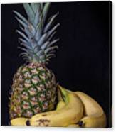 Pineapple And Bananas Canvas Print