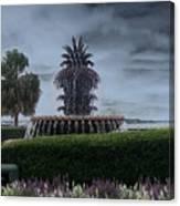 Pineapple Fountain Canvas Print