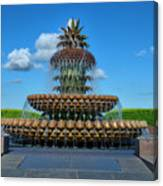 Pineapple Fountain Canvas Print
