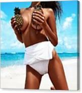 Pineapples Portrait Canvas Print