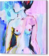 Pink Abstract Nude Canvas Print