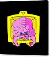 Pink Alien Canvas Print