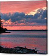 Pink And Blue Sunset Canvas Print