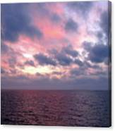 Pink And Blue Sunset In The Black Sea Canvas Print