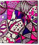 Pink And Purple Abstract Canvas Print