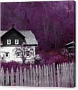 Pink And Purple Enchanted Cottage Canvas Print