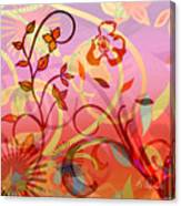 Pink And Purple Flower Medley Canvas Print