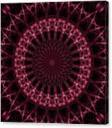 Pink And Red Glowing Mandala Canvas Print