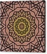 Pink And Yellow Kaleidoscope 1 Canvas Print
