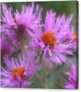 Pink Autumn Flowers Canvas Print