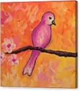 Pink Bird Canvas Print