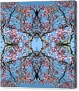 Pink Blossom Mandala Canvas Print