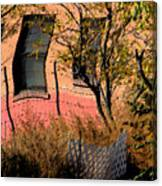 Pink Brick House Canvas Print