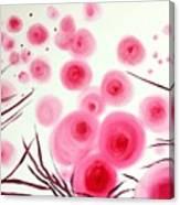 Pink Bubbles Canvas Print