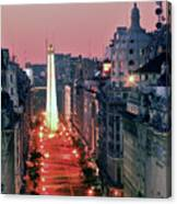 Pink Buenos Aires  Canvas Print