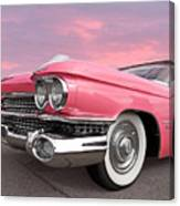 Pink Cadillac Sunset Canvas Print