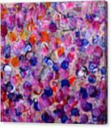 Pink California Splatter Map Canvas Print