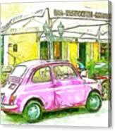 Pink Car Canvas Print